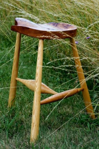 burr elm stool