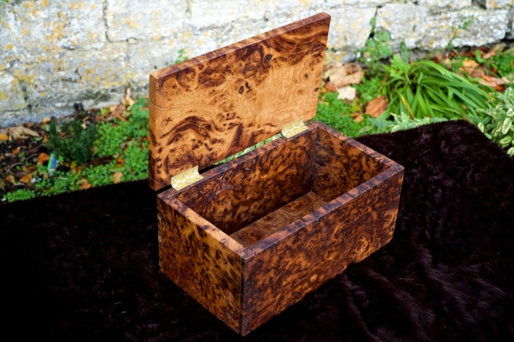 Burr oak jewellery box, gifts