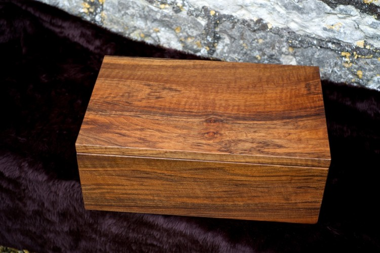 Walnut jewellery box, bespoke wooden gifts