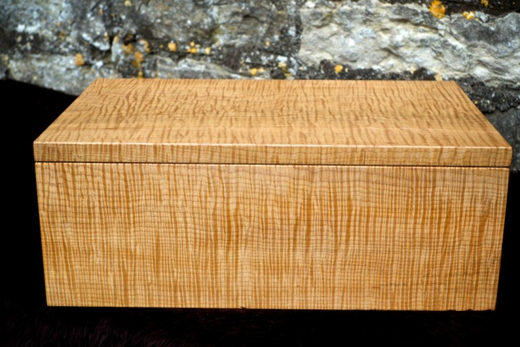 Ripple maple jewellery box, gifts