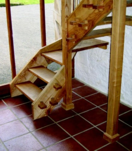 bespoke carpenter, English ash staircase