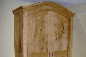 English and burr oak armoire, wardrobes, bespoke furniture