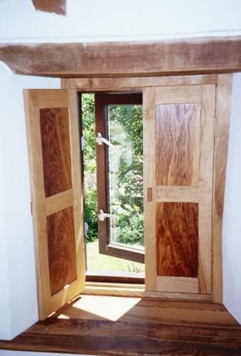 English oak panel shutters, wooden shutters