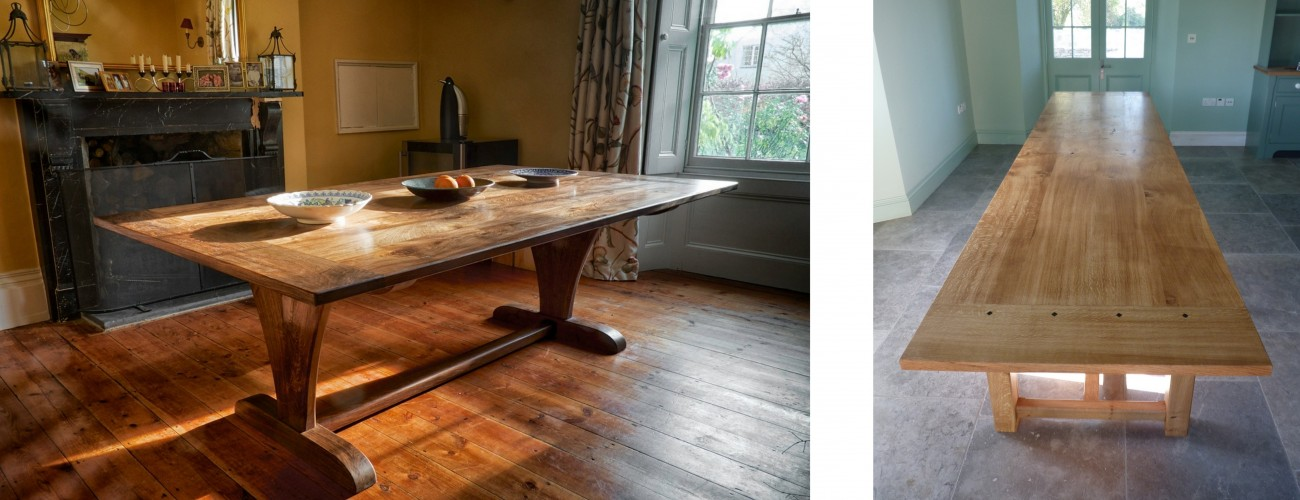 furniture maker, dining tables, bespoke carpenter, fine furniture, Dorset, Somerset, South West England