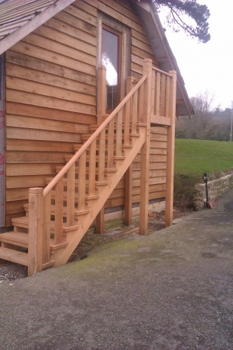 bespoke carpenter, outdoor staircase