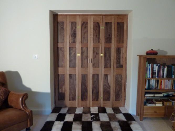 Double door shutters closed