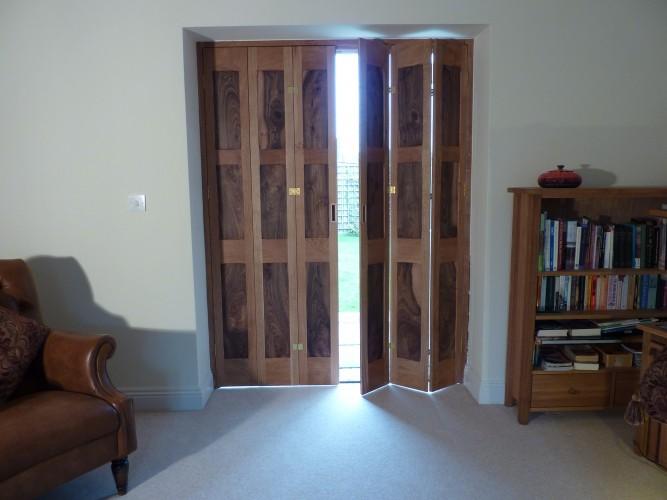 Double door shutters open
