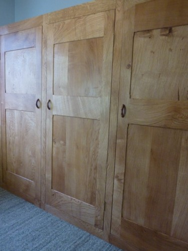 bespoke fitted ash wardrobe