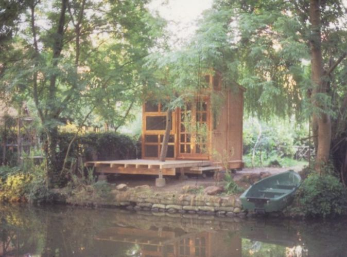 Contemplation hut and boathouse, bespoke carpenter