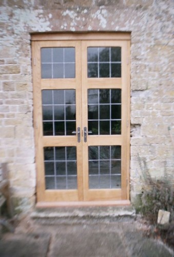 bespoke carpenter, oak French doors
