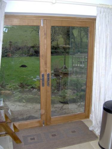 bespoke joinery, English oak french doors