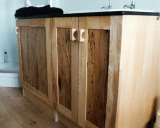 Bespoke wooden sink unit, bespoke carpenter