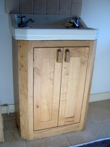 Bespoke wooden sink cabinet, cabinet maker