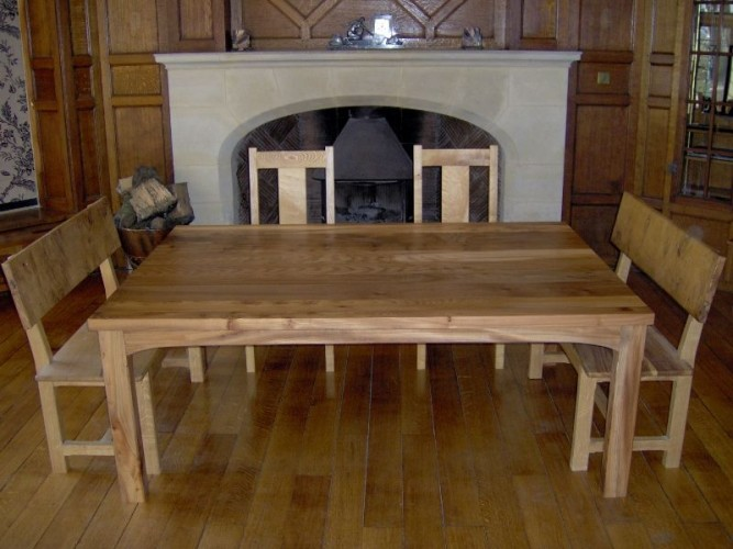Bespoke table and benches