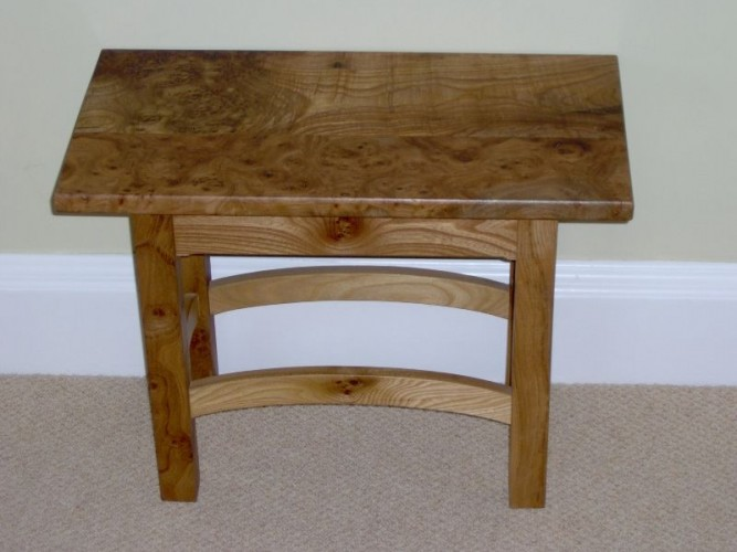 side table burr elm