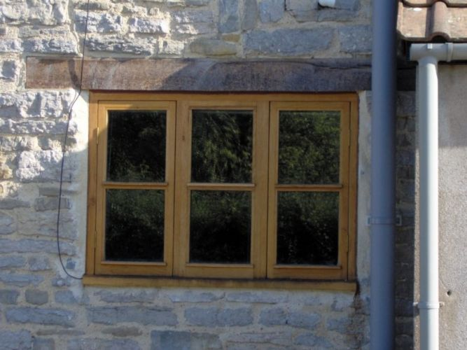 bespoke carpenter, triple two pane cottage window